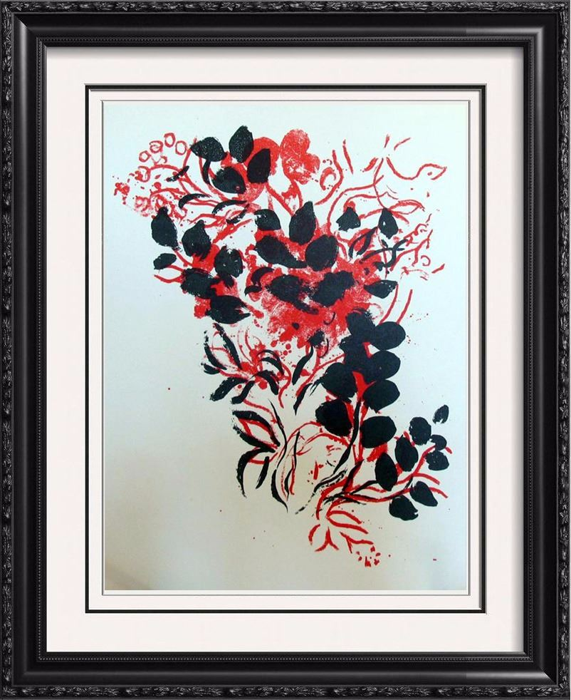 bouquet original colored lithograph marc chagall after rare find. Black Bedroom Furniture Sets. Home Design Ideas