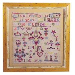 "Professionally framed 1863 sampler, nice colors and condition, 18""W x 19""H."