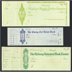 Hong Kong & Shanghai Hotels, Ltd and others. Waterlow Specimen Trio.