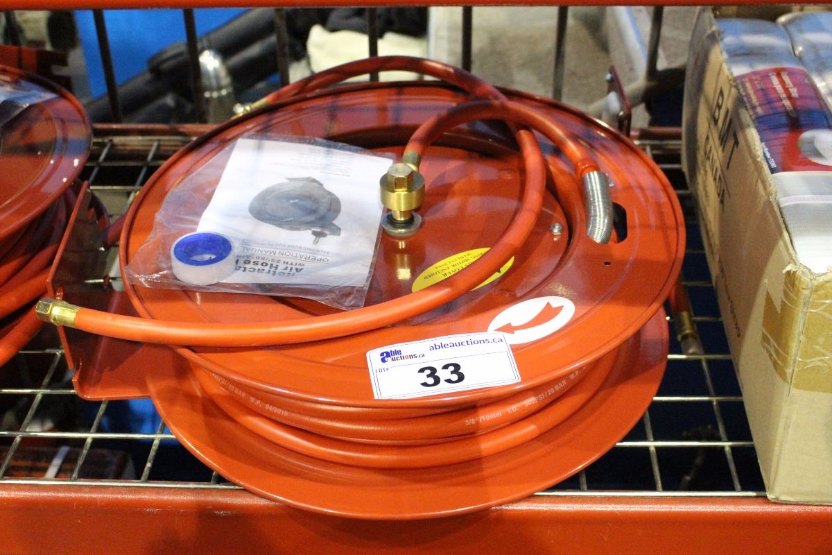 Retractable Air Hose Reel With Wiring Image 1