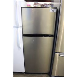 stainless steel 2 door apartment sized refrigerator able