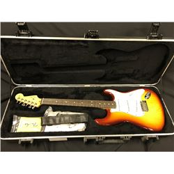 FENDER STRATOCASTER ELECTRIC GUITAR, SIENNA  BURST, MADE IN USA 2011. SERIAL # US11124736