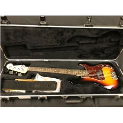 FENDER PRECISION  5-STRING ELECTRIC BASS GUITAR, 3-TONE BURST, MADE IN USA