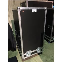 LIFT OFF LID ROAD CASE, 1/2'' CONSTRUCTION, 24'' SQUARE X 43'' HIGH INSIDE, CUSTOM TO FIT LOT 18-21