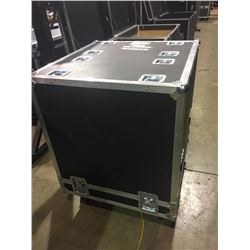 CUSTOM ROAD CASE SLIDE OFF ROAD CASE, 41'' X 33'' X 33'', USED FOR 2X MARSHALL STRAIGHT GUITAR