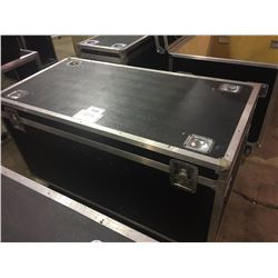 CUSTOM BUILT ROAD CASE, 27'' H X 57'' W X 28'' D, INSIDE, USED FOR BASS DRUMS, CYMBALS AND HEADS
