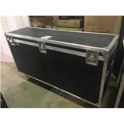 CUSTOM BUILT ROAD CASE, 27'' H X 64'' W X 18.5'' D, INSIDE, USED FOR 10 LUDWIG CONCERT TOMS