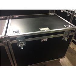 CUSTOM BUILT ROAD CASE, 30'' H X 42.5'' W X 32'' D, INSIDE, USED FOR YAMAHA FLOOR TOMS, SNARE,