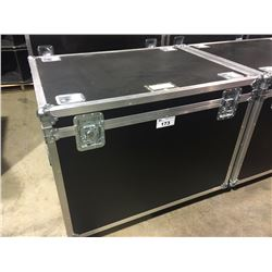 CUSTOM BUILT ROAD CASE, 30'' H X 42.5'' W X 32'' D, INSIDE, USED FOR YAMAHA TOMS, SNARE, OCTOBANS,