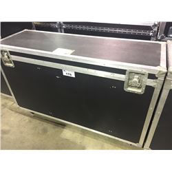 CUSTOM BUILT ROAD CASE, 26'' H X 49'' W X 18.5'' D, INSIDE, USED FOR PEARL TOMS, HARDWARE
