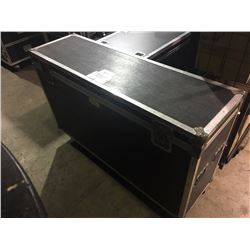 CUSTOM BUILT ROAD CASE, 29.5'' H X 56'' W X 16'' D, INSIDE, USED FOR TOMS, HARDWARE