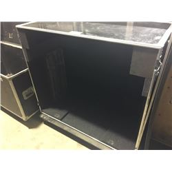 CUSTOM BUILT ROAD CASE, 45.5'' H X 52.5'' W X 28.5'' D, INSIDE, USED FOR ASSEMBLED DRUM HARDWARE