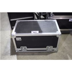 CUSTOM SINGLE GUITAR HEAD ROAD CASE, 12'' X 24'' X 12'', FOR AMPEG OR SIMILAR SIZE HEADS