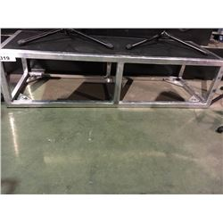 ALUMINUM AND BLACK CARPET STAGE RISER, 14'' H X 54'' W X 20'' D