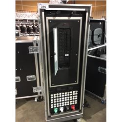 200 AMP POWER DISTRIBUTION CENTER, WITH TWO LIGHTING UNITS, IN CUSTOM BUILT ROAD CASE