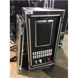 100 AMP POWER DISTRIBUTION CENTER, WITH TWO LIGHTING UNITS, IN CUSTOM BUILT ROAD CASE