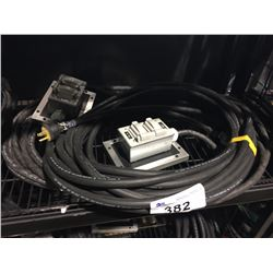 PAIR OF 50' 12 GAUGE STAGE BOX EXTENSION CORDS WITH 2 OUTLETS EACH