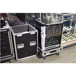 LIFT OFF 16U RACK ROAD CASE, WITH TWO FURMAN PL-8 POWER CONDITIONERS, AND 2 TWIST LOCK POWER