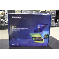 SHURE SLX WIRELESS MICROPHONE SYSTEM WITH BETA 58A MICROPHONE, FREQUENCY BAND J3 572-596 MHZ