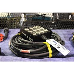 VIPER BY BRTB 75' 12 CHANNEL XLR SNAKE WITH STAGE BOX AND VEAM CONNECTOR