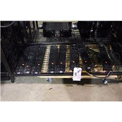 LOT OF 8 2U MODULAR RACK PANELS WITH XLR AND SPEAKON PANEL MOUNT JACKS