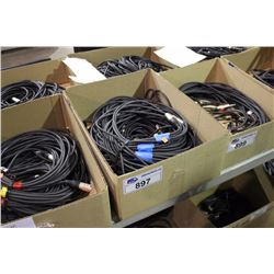 LOT OF 10 ASSORTED LENGTH XLR CABLES WITH NEUTRIK ENDS