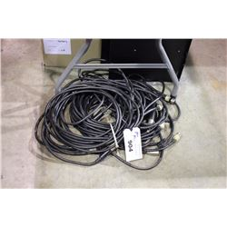 LOT OF ASSORTED 4 PIN SPEAKER CABLE