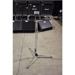 CHROME K&M TALL POLE, LONG BOOM OVERHEAD MIC STAND