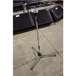 CHROME K&M TALL POLE, LONG BOOM MIC STAND
