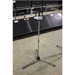 CHROME K&M TALL POLE, SHORT EXTENDING BOOM MIC STAND