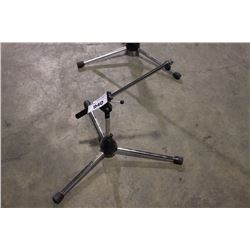 CHROME K&M SHORT POLE, SHORT EXTENDING BOOM MIC STAND