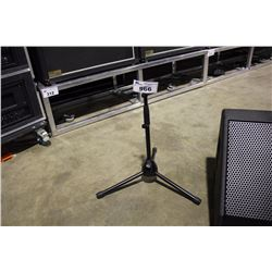 BLACK K&M SHORT POLE, NO BOOM MIC STAND