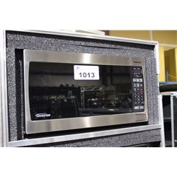 STAINLESS STEEL AND BLACK PANASONIC INVERTER MICROWAVE OVEN