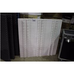 LARGE PALLET OF SOUND ABSORPTION INTERLOCKING CONSTRUCTION FOAM, APPROX. 24 SHEETS PER PALLET