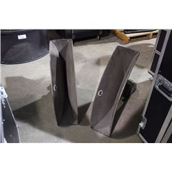 JBL MODEL 2328 LOUDSPEAKER FLARES, WITH JBL MODEL 2411 DRIVERS
