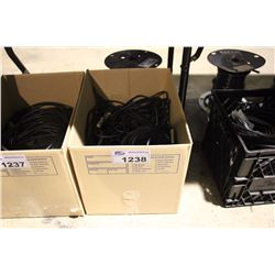 BIN OF ASSORTED TRS, TS AND XLR CABLING