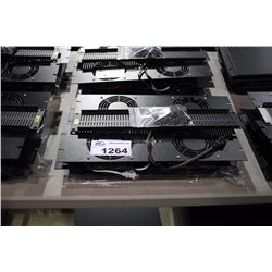 LOT OF ASSORTED MIDDLE ATLANTIC RACK ACCESSORIES AND SPACERS INC. 4X 3U VENTED FANS, 6U VENTED