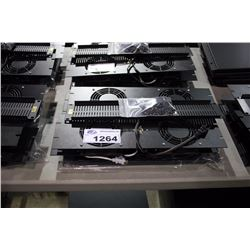LOT OF ASSORTED MIDDLE ATLANTIC RACK ACCESSSORIES AND SPACERS INC. 4X 3U VENTED FANS, 6U VENTED