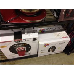 SHELF LOT OF A KEURIG AND TASSIMO COFFEE MAKERS - Able Auctions