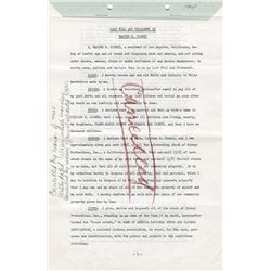 Walt Disney signed last will and testament