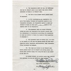 Walt Disney signed historical legal license for use of his name by Walt Disney Inc.