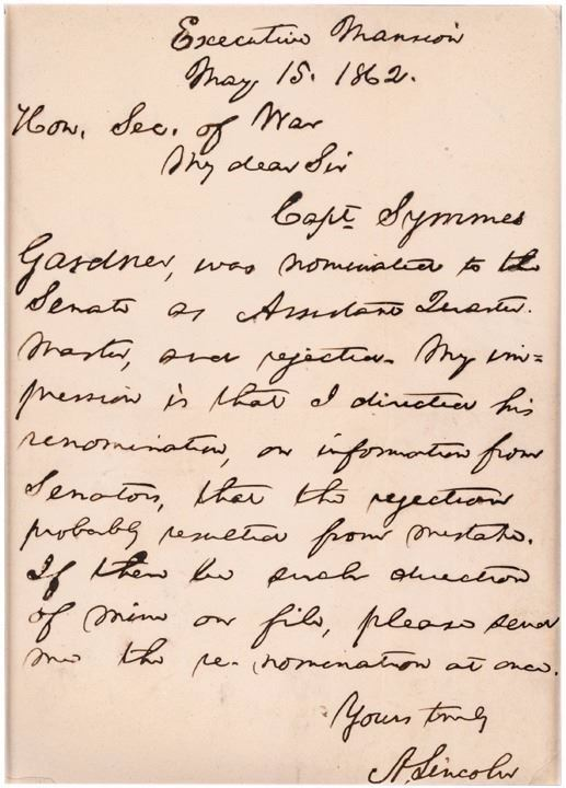 image 1 superb 1862 civil war date abraham lincoln letter to his secretary of war