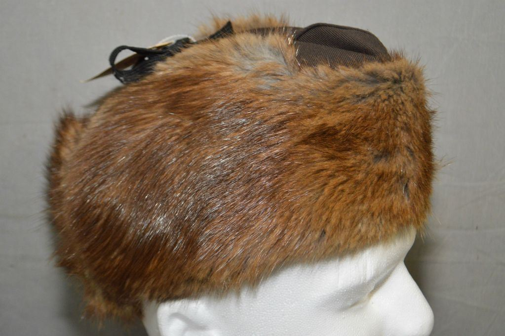 RCMP Beaver Winter Hat Size 7   Reliable Fur Co. Ltd Dated 1970   a8c0aae444c