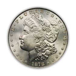 1878 $1 Morgan Silver Dollar 8 Tail Feather VG