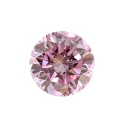 Fancy Purple-Pink Round Shape, SI1 Clarity Diamond (.19 Carat) GIA Cert