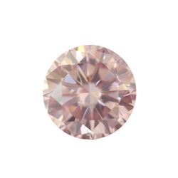 Fancy Light Pink Round Shape, SI2 Clarity Diamond (0.33 Carat) GIA Cert: 1152049746
