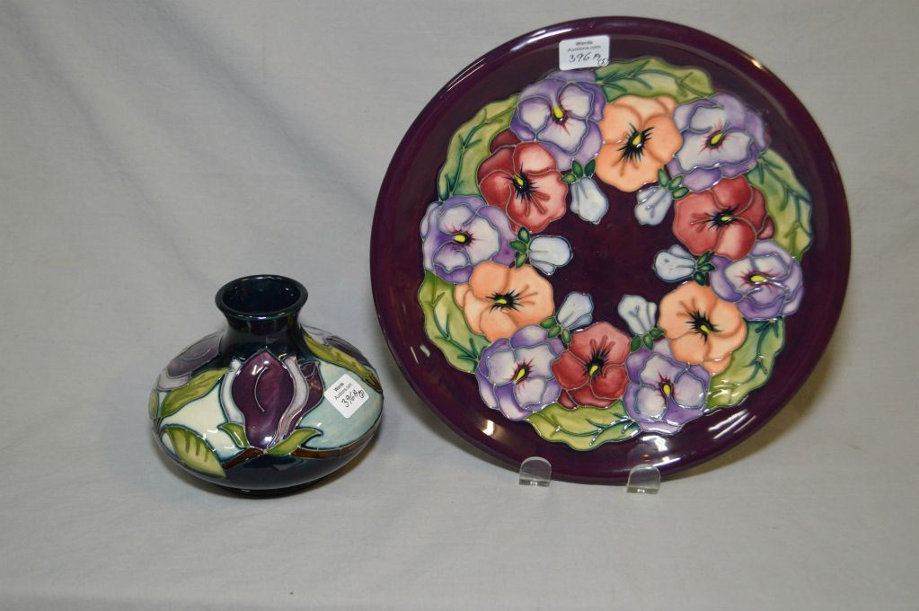 Two Pieces Of Moorcroft Pottery Including Magnolia Vase And 10