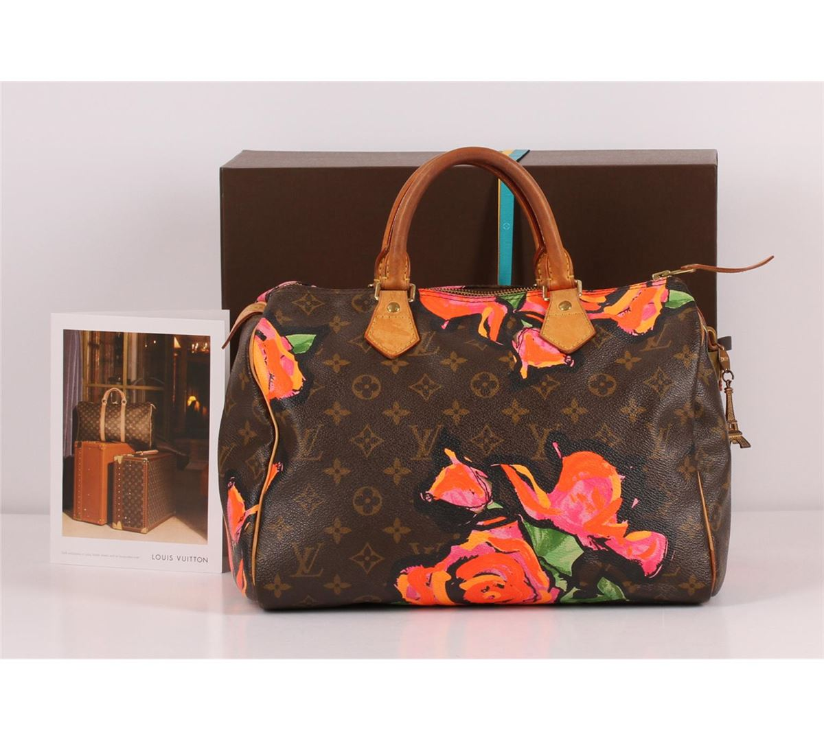 e74c452cb43 Image 1   Authentic Louis Vuitton Limited Edition Stephen Sprouse Roses Speedy  30 Bag ...