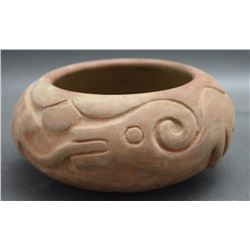 SAN ILDEFONSO POTTERY BOWL (ROSE)