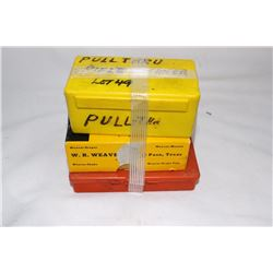 Pull through Rifle Cleaner; Small Box of Gun Parts & Small Tool Kit